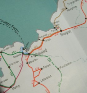 map of Fishguard bus routes