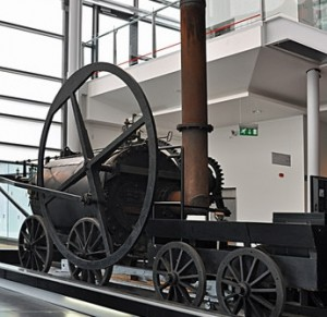 reconstruction of Trevithick's first railway engine