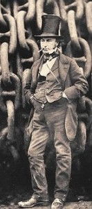 Brunel with chains