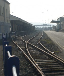 passing loop at Fishguard Harbour Station