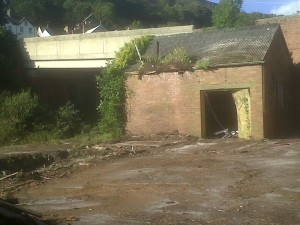 brick shed remaining at Goodwick station