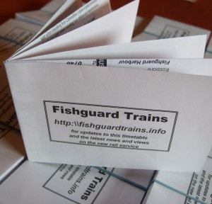 Fishguard and SIx Nations pocket timetable from Fishguard Trains