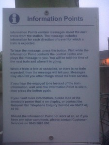 Poster describing an Information Point