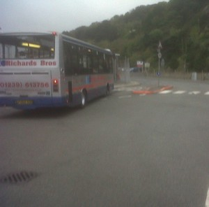 bus waiting at station