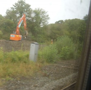 digger beside the line
