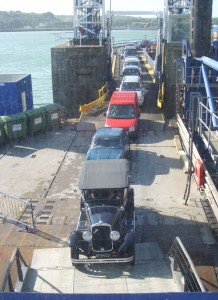 cars loading on the ferry at Fishguard