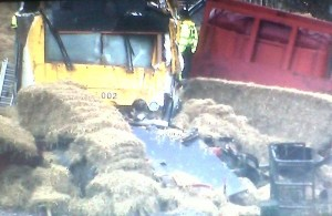 train and hay lorry in collision near Whitland