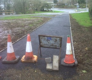 new footpath at Goodwick station