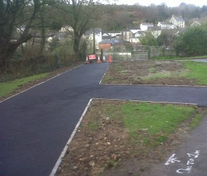 new path at Goodwick station