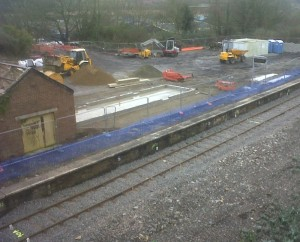 work proceeding on restoring the former station