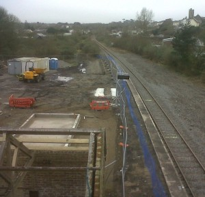 new platform taking shape at Goodwick