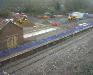 ongoing works at Goodwick station site