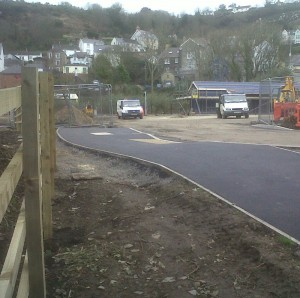 Fishguard & Goodwick Station works - access road