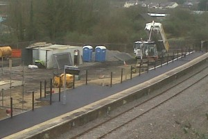 Fishguard & Goodwick Station works - platform