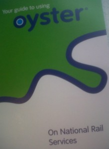 leaflet promoting Oyster on National Rail