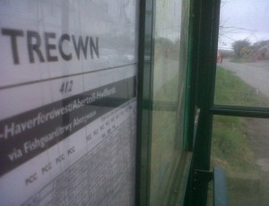 bus shelter at Trecwn