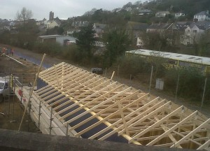 roofing works at Fishguard & Goodwick Station