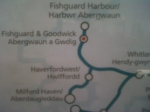 Arriva Route Map showing new station
