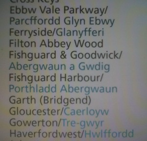 Arriva West Wales timetable