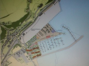 plan of newly-approved Fishguard Marina