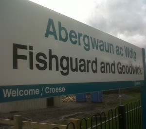 Fishguard and Goodwick station sign