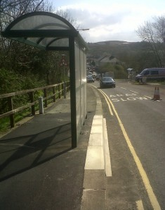 new bus shelter at Fishguard and Goodwick Station