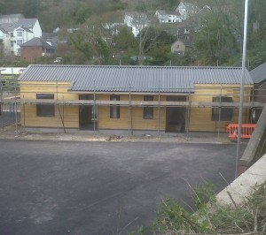Car park facing side of FIshguard & Goodwick Station