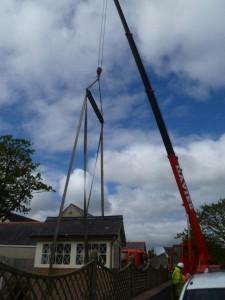 crane lifting signalbox