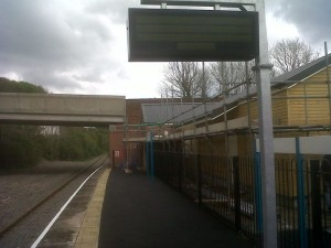 view along new platform