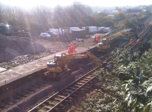 slewing the tracks at Fishguard and Goodwick