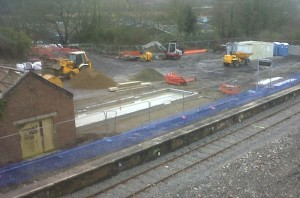 foundations for new station building