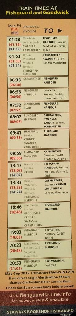 new bookmark timetable
