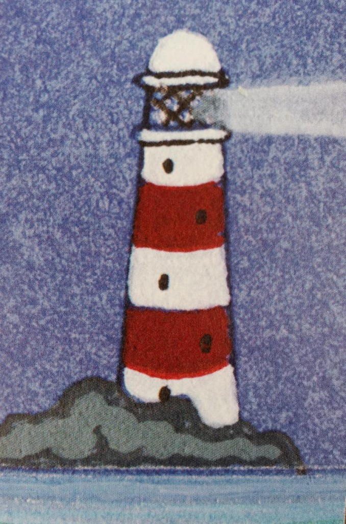 Strumble lighthouse illustrated on bookmark timetable