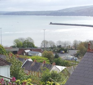 Fishguard and Goodwick Station from high on Goodwick Hill