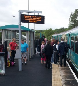 boarding the 9:59 from Fishguard and Goodwick