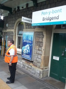 platform staff at Bridgend