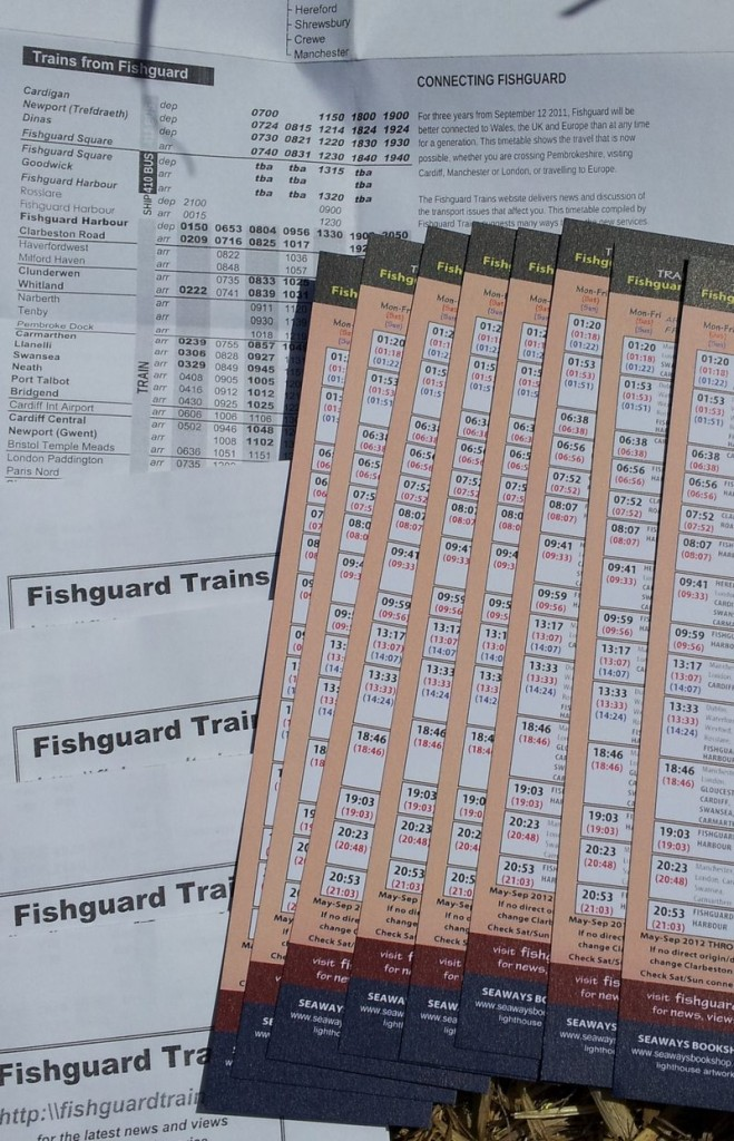 two timetables published by Fishguard Trains