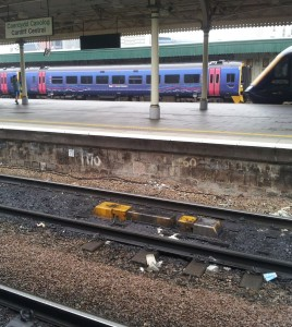track at Platform Four Cardiff Central
